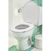 Assento Sanitário Almofadado Oval Slim Branco Mebuki