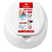 Assento Sanitário Plástico Elevado 7,5 cm Branco Mebuki