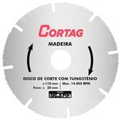 Disco Corte Tungstênio para Madeira Cortag 110mm