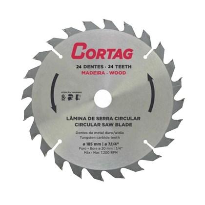 Disco Serra Circular Madeira 185 x 20 mm 24 Dentes Cortag