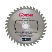 Disco Serra Circular Madeira 185 x 20 mm 36 Dentes Cortag